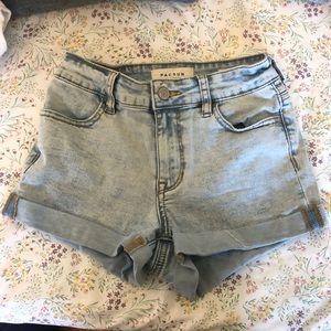 acid wash shorts   pacsun
